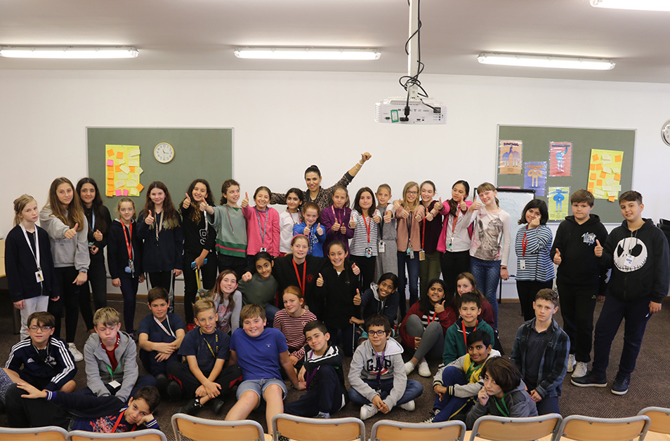 TISA students met with a Paralympic Taekwondo champion.