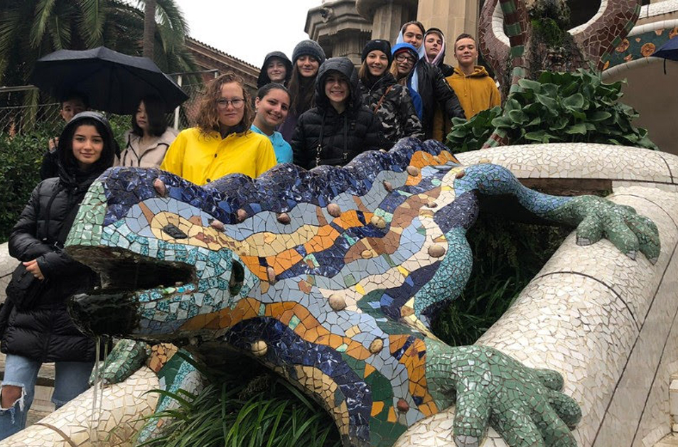 Secondary Arts Students Visit Barcelona, Spain